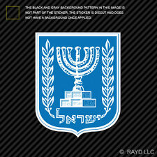 Israeli Coat of Arms Sticker Decal Self Adhesive Vinyl Israel flag ISR IL