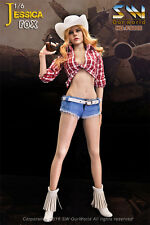 SW Our world 1/6th Jessica Fox Female Cow Girl Action Figure+Suits Set Head Doll