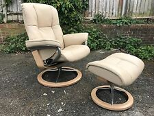 Ekornes Stressless Mayfair Signature Recliner Armchair with Footstool *NOT USED*