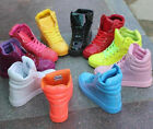 Fashion High Top Womens Girls Lace Up Flats Candy Colors Sneakers Trainers Shoes