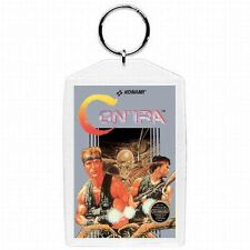 Nintendo Nes CONTRA Video Game Box Cover KEYCHAIN Merchandise