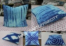 Wholesale Lot of 5 pcs Tye Dye Cushion Cover Shibhori Indigo Print Pillow Case