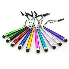 10Pcs Metal Stylus Touch Screen Pen & Anti-Dust Plug For Cell Phone iPad Tablet