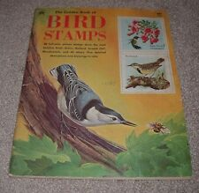 1974 Golden Book of Bird Stamps Complete 47 Full Color Eagle Blue Jay Cardinal
