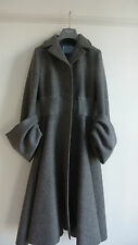 Prada Large Cuff Grey Wool Coat (Italian 42)