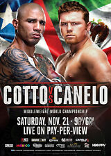MIGUEL COTTO vs. SAUL 'CANELO' ALVAREZ / Original Full-Size HBO Boxing Poster