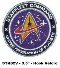 STAR TREK UNITED FEDERATION OF PLANETS HOOK BACKING PATCH - STK82V