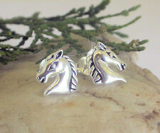 HORSE & WESTERN JEWELLERY   925 STERLING SILVER ARABIAN  HORSE  STUD EARRINGS