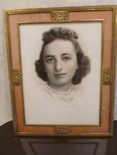Vintage Chidnoff NY Framed Photo Woman Female Portrait 30s? 40s? Brass Frame