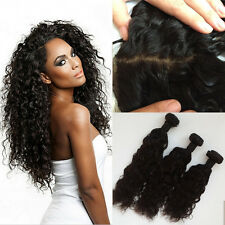 "12""14""16&10 INCH LACE CLOSURE BRAZILIAN VIRGIN NATURAL WAVE  SAMEDAY DISPATCH 9"