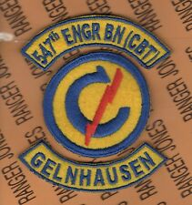 547th Combat Engineer Battalion Constabulary Gelnhausen Germany patch tab