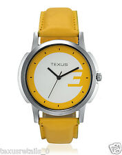 Texus(TXMW051) Yellow Strap Watch for Men/Boys