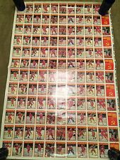 1990-91 OPC Central Red Army Hockey Un Cut Sheet
