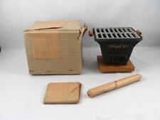 VINTAGE JAPANESE MINIATURE TABLETOP CAST IRON HIBACHI GRILL  UNUSED IN BOX