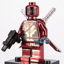 Deadpool Super Hero Marvel Dc Comics Xmen Fit with Lego Minifigs Toy Mini Figure