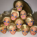 Kids Toy Head Blond Brunette for Barbie Doll OOAK Projects New Toys C