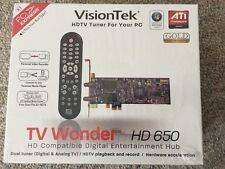 VisionTek ATI Wonder HDTV 650 PCI Dual Tuner For PC Analog & digital TV GOLD