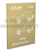 1987 1988 Jeep Wrangler YJ Body Shop Manual MR 280 Bodywork Repair Service