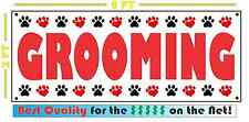 GROOMING Banner Sign NEW Larger Size DOGS CATS Large Animal 4 Truck Van Shop