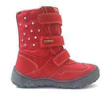 New $120 GABOR Kids Fashion Boots Girls Red Snow LEATHER SIZE 2 USA/34 EURO