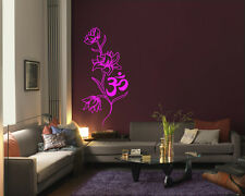 Wall Vinyl Sticker Room Decal Mural Decor Om flower yoga Hindu Buddha   bo2176