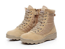 Men's Military Tactical Boots Outdoor Combat Army Duty Waterproof Shoes Khaki !