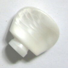 BANJO TUNER BUTTON, pearloid, shaft 2 curved 2 flat