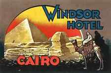 Windsor Hotel Luggage Label A4 Photo Print
