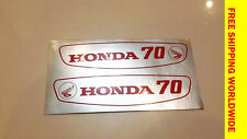Honda Scooter 70 C70 Emblem Gas Tank NEW STICKERS Decal  Pair