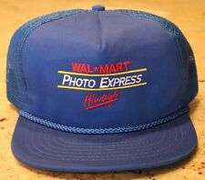 NEW Vintage Walmart PHOTO EXPRESS Trucker Snap Back Baseball Cap Stitched Logo
