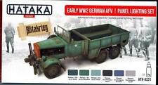 Hataka Hobby Paints EARLY WWII GERMAN AFV & PANEL LIGHTING Acrylic Paint Set