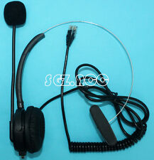 Telephone Headset with Mic RJ9 headset Connection Office Home Black