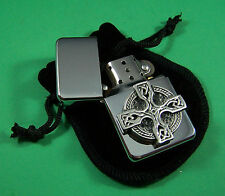 Celtic Cross Petrol Lighter FREE UK POST Celt Scotland Ireland Welsh