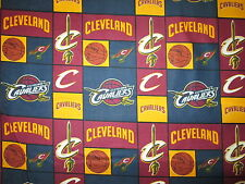 CLEVELAND CAVALIERS BLUE NBA LICENSED QUILTING COTTON FABRIC FQ