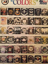 Outlaw Motorcycle Gang COLORS Detroit Midwest Chart Sons of Anarchy Rare