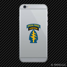 US Army Special Forces Airborne Cell Phone Sticker Mobile Die Cut Green Berets