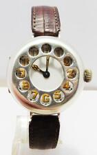 TRENCH WW1 SCHRAPNEL GUARD SILVER TELEPHONE DIAL WRIST WATCH