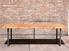 Industrial Chic Large Dining Conference Table Reclaimed Wood/Steel. 8ft X 4ft