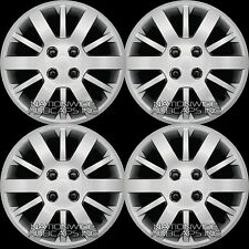"Set of 4 Chevy 4 Lug 15"" Bolt On Hub Caps Full Rim Wheel Covers Steel Wheels"