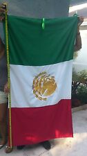 Original embroided Mexican Flag, Mexico, Bandera Mexicana