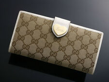 G4599 Authentic GUCCI GG Canvas Heart Long Wallet
