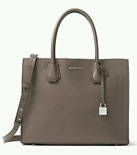 NWT MICHAEL KORS MERCER LARGE STUDIO SATCHEL SHOULDER PEBBLED LEATHER CINDER