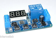 Modulo Temporizzatore 12v Display 7 Segmenti Timer Countdown Relè Relay Advanced