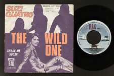 """7"""" SUZI QUATRO THE WILD ONE / SHAKE MY SUGAR MADE IN BELGIUM 1974 RAK RECORDS"""