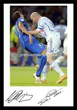 2006 WORLD CUP FINAL ZINEDINE ZIDANE HEADBUTT MARCO MATERAZZI SIGNED (PRINTED)