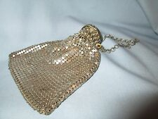 OLD SILVER MESH EXPANDABLE GATE TOP BEGGARS BAG FLAPPER PURSE NO LINER