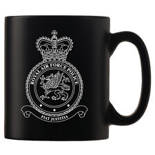 Royal Air Force Police, RAF - Personalised Black Satin Mug