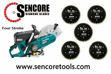 "Makita EK7651H 14"" MM4 4 - Stroke Power Cutter  + 5pk Super Shark Diamond Blades"