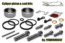 Kawasaki Tokico twin rear caliper seal & stainless piston & bolts kit B