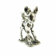 925 Sterling Silver Fawn Baby Dear Charm Made in USA